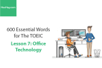 Sách 600 Từ vựng TOEIC – Lesson 7: Office Technology – Học Hay
