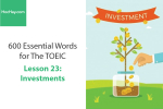 Sách 600 Từ vựng TOEIC – Lesson 23: Investment – Học Hay