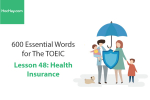 Sách 600 Từ vựng TOEIC – Lesson 48: Health Insurance – Học Hay