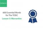 Sách 600 Từ vựng TOEIC – Lesson 3: Warranties – Học Hay
