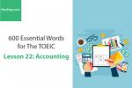 Sách 600 Từ vựng TOEIC – Lesson 22: Accounting – Học Hay