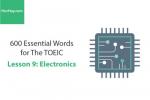 Sách 600 Từ vựng TOEIC – Lesson 9: Electronics – Học Hay