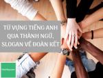 Từ vựng tiếng Anh qua thành ngữ, slogan về đoàn kết - Ngày Quốc tế đoàn kết nhân loại 20/12