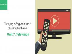 Video Từ vựng tiếng Anh lớp 6 - Unit 7: Television - Học Hay