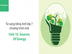 Video Từ vựng tiếng Anh lớp 7 - Unit 10: Sources of Energy - Học Hay
