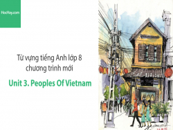 Video Từ vựng tiếng Anh lớp 8 - Unit 3: Peoples of Vietnam - Học Hay