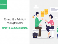 Video Từ vựng tiếng Anh lớp 8 - Unit 10: Communication - Học Hay