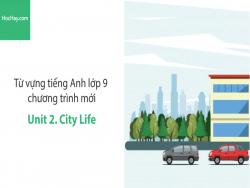 Video Từ vựng tiếng Anh lớp 9 - Unit 2: City Life - Học Hay