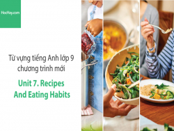 Video Từ vựng tiếng Anh lớp 9 - Unit 7: Recipes and Eating Habits - Học Hay