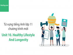 Video Từ vựng tiếng Anh lớp 11 - Unit 10: Healthy Lifestyle and Longevity - Học Hay