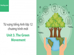 Video Từ vựng tiếng Anh lớp 12 - Unit 3: The Green Movement - Học Hay