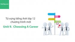 Video Từ vựng tiếng Anh lớp 12 - Unit 9: Choosing a Career - Học Hay