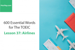 Sách 600 Từ vựng TOEIC – Lesson 37: Airlines – Học Hay