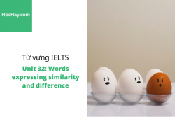 Sách Từ vựng IELTS – Unit 32: Words expressing similarity and difference – Học Hay