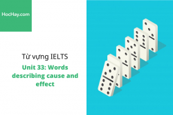 Sách Từ vựng IELTS – Unit 33: Words describing cause and effect – Học Hay