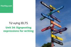 Sách Từ vựng IELTS – Unit 34: Signposting expressions for writing – Học Hay