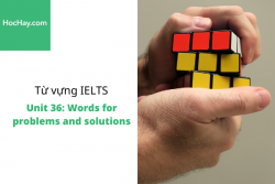 Sách Từ vựng IELTS – Unit 36: Words for problems and solutions – Học Hay