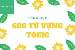 Tổng hợp 600 từ vựng TOEIC theo chủ đề - Học Hay