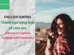 Thành ngữ tiếng Anh về cảm xúc (Idioms to Express Feelings and Emotions) - HocHay