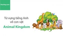 Từ vựng tiếng Anh về con vật (Animal Kingdom) - HocHay