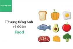 Từ vựng tiếng Anh về đồ ăn (Food) - HocHay