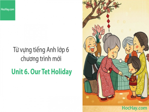 Video Từ vựng tiếng Anh lớp 6 - Unit 6: Our Tet Holiday - Học Hay