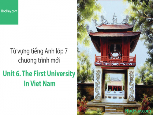 Video Từ vựng tiếng Anh lớp 7 - Unit 6: The First University in Vietnam - Học Hay