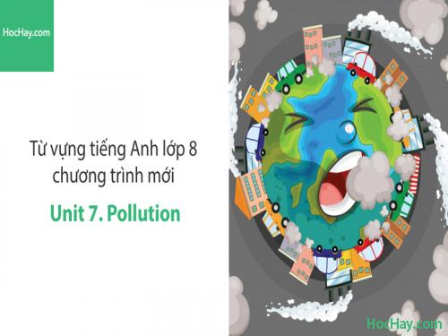 Video Từ vựng tiếng Anh lớp 8 - Unit 7: Pollution - Học Hay