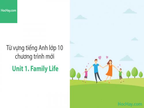 Video Từ vựng tiếng Anh lớp 10 - Unit 1: Family Life - Học Hay