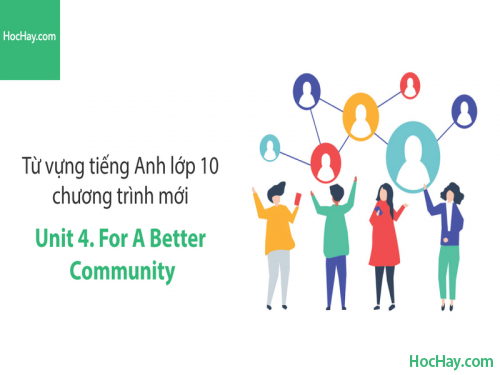 Video Từ vựng tiếng Anh lớp 10 - Unit 4: For a Better Community - Học Hay