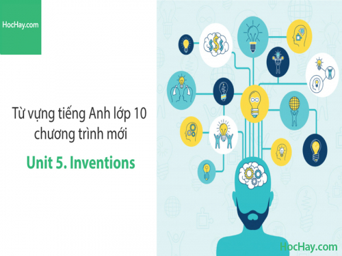 Video Từ vựng tiếng Anh lớp 10 - Unit 5: Inventions - Học Hay