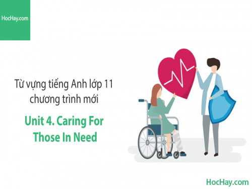 Video Từ vựng tiếng Anh lớp 11 - Unit 4: Caring for Those in Need - Học Hay