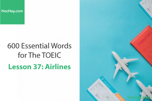 600 Từ vựng TOEIC – Lesson 37: Airlines – Học Hay