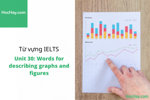Từ vựng IELTS – Unit 30: Words for describing graphs and figures – Học Hay