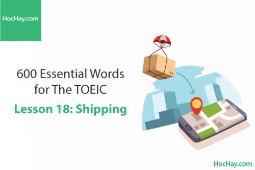 600 Từ vựng TOEIC – Lesson 18: Shipping – Học Hay