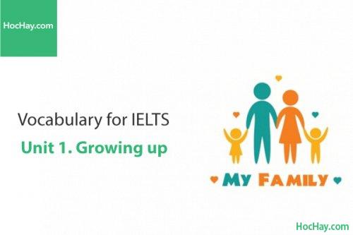 Từ vựng IELTS – Unit 1: Growing up – Học Hay